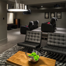 Contemporary Home Theater by Just Basements