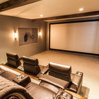 Blue Pickle Loft Industrial Home Theater San