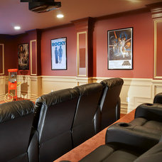 Traditional Home Theater by Creative Design Construction, Inc.