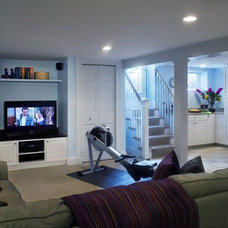 Contemporary Home Theater by GMT Home Designs Inc.