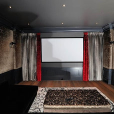 Eclectic Home Theater by Tavan Group