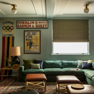 Basement Theater of a historic Craftsman residence in Santa Monica, CA