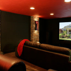 Traditional Home Theater by Linda Florio - Progressive Builders Northwest
