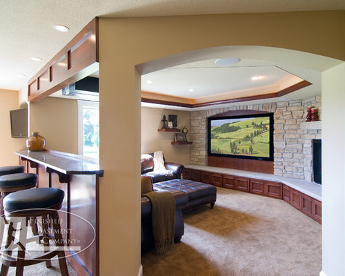Basement Tv Wall Ideas, Pictures, Remodel and Decor