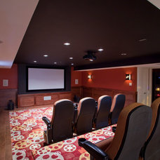 Contemporary Home Theater by Worthy Builders,Inc