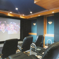 Traditional Home Theater by Berriz Design Build Group