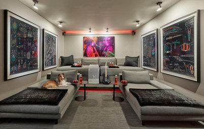 Avant/Après : Un garage transformé en salon TV grand confort