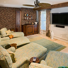 Contemporary Home Theater by Bruce Palmer Coastal Design