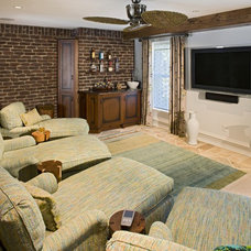 Contemporary Home Theater by Bruce Palmer Interior Design