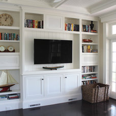 Beach Style Home Theater by Molly Frey Design