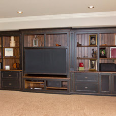 Traditional Home Theater by Wende Woodworking LLC