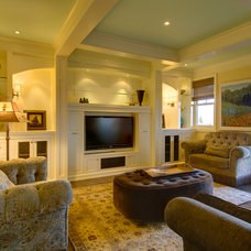 Traditional Home Theater by Rockwood Custom Homes
