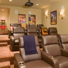 Contemporary Home Theater by CHC Mountain Structures