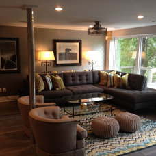 Eclectic Home Theater by Butter Lutz Interiors, LLC