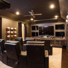 Contemporary Home Theater by Laura U, Inc.