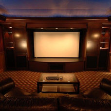 Contemporary Home Theater by Home Theatre Northwest
