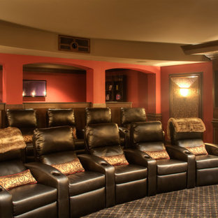 Example of a classic home theater design in Other