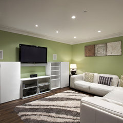 traditional media room by Best Builders ltd