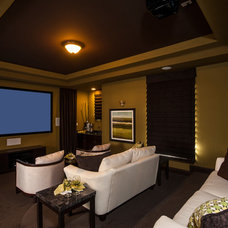 Traditional Home Theater by Meritage Homes