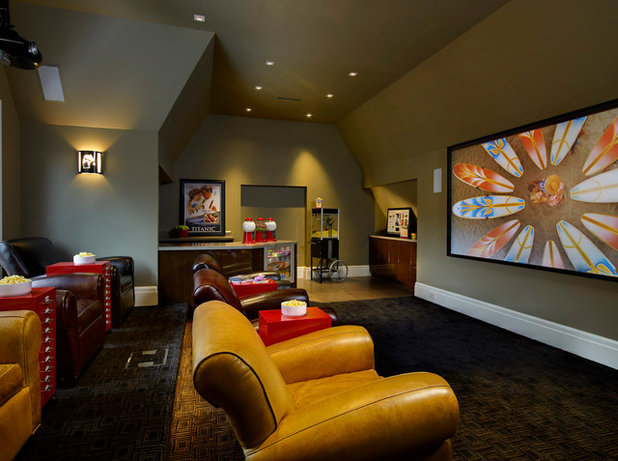Traditional Home Theater by Dominick Tringali Architects
