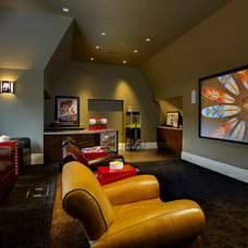 Contemporary Home Theater by Dominick Tringali Architects