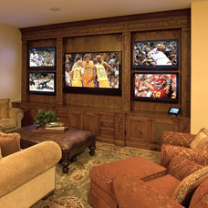 Mediterranean Home Theater by Bliss Home Theaters & Automation, Inc