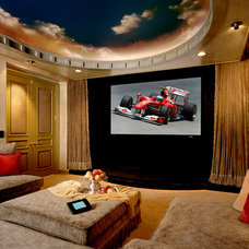 Contemporary Home Theater by Bliss Home Theaters & Automation, Inc