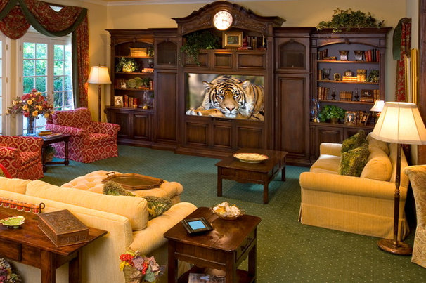 Traditional Home Theater by Bliss Home Theaters & Automation, Inc