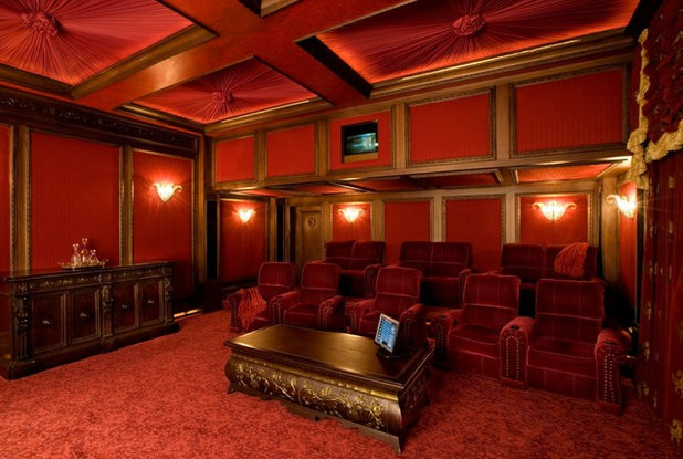 Traditional Home Theatre by Bliss Home Theaters & Automation, Inc
