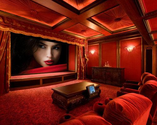 Home Theater Paint Color Home Design Ideas Renovations Photos
