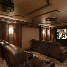 Traditional Home Theater by Tutto Interiors