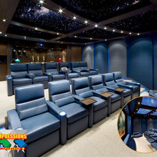 Contemporary Home Theater by First Impressions Theme Theatres,Inc.