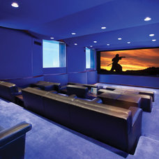 Contemporary Home Theater by Man Caves Audio Video