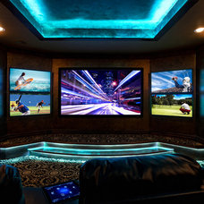 Contemporary Home Theater by BlueSpeed AV