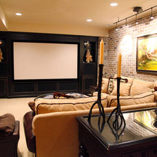 Traditional Home Theater by Hoffman Builders Incorporated