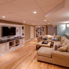 Traditional Home Theater by Steven Baczek Architect