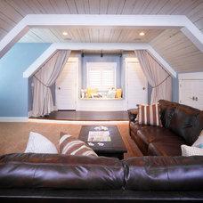 Traditional Home Theater by Joe Carrick Design - Custom Home Design