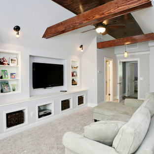 Elegant home theater photo in Raleigh