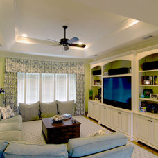Traditional Home Theater by Seamar Construction Group