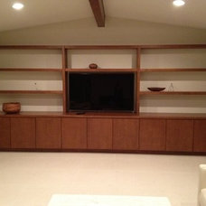 Modern Home Theater by Dickinson Cabinetry