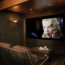 Traditional Home Theater by Residential Systems, Inc.