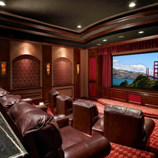 Traditional Home Theater by Brentwood Construction and Remodeling