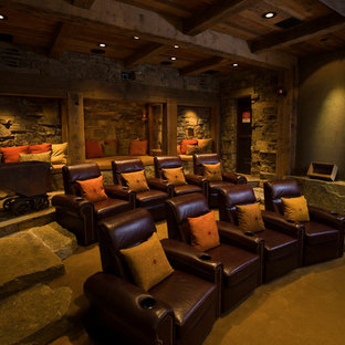 75 Most Por Rustic Black Home Theater Design Ideas for ... Rustic Home Theater Design Ideas on rustic industrial interior design, rustic teenage bedrooms, rustic minimalist interior, rustic and natural landscaping, rustic furniture, rustic style homes, kitchen design ideas, fireplace in living rooms ideas, rustic industrial living room, rustic country homes, prairie style interior design ideas, rustic wedding decorations for lanterns, northwoods decorating ideas, art deco design ideas, bungalow design ideas, garage/shop design ideas, rustic modern barn house, rustic old stone walls, rustic pool house designs, rustic bedroom interior design,