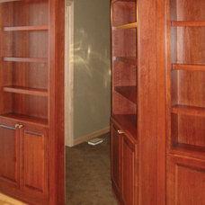 Contemporary Home Theater Bridgewater Media Cabinets