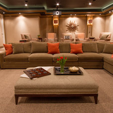Contemporary Home Theater by Bethesda Systems