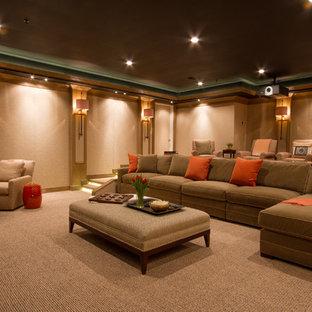 Home theater - contemporary home theater idea in DC Metro