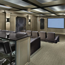 Contemporary Home Theater by KDS Interiors, Inc.