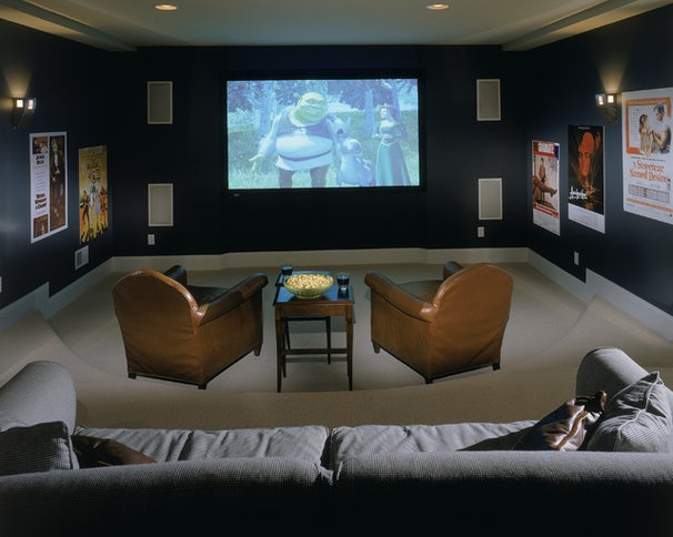 Traditional Home Theater by Witt Construction