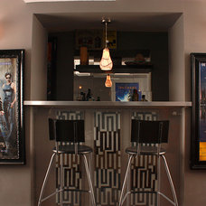 Contemporary Home Theater by Pierreless Design Build