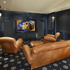 Contemporary Home Theater by Graf Developments
